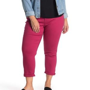Wit & wisdom ab solution ankle slimmer jeans pink